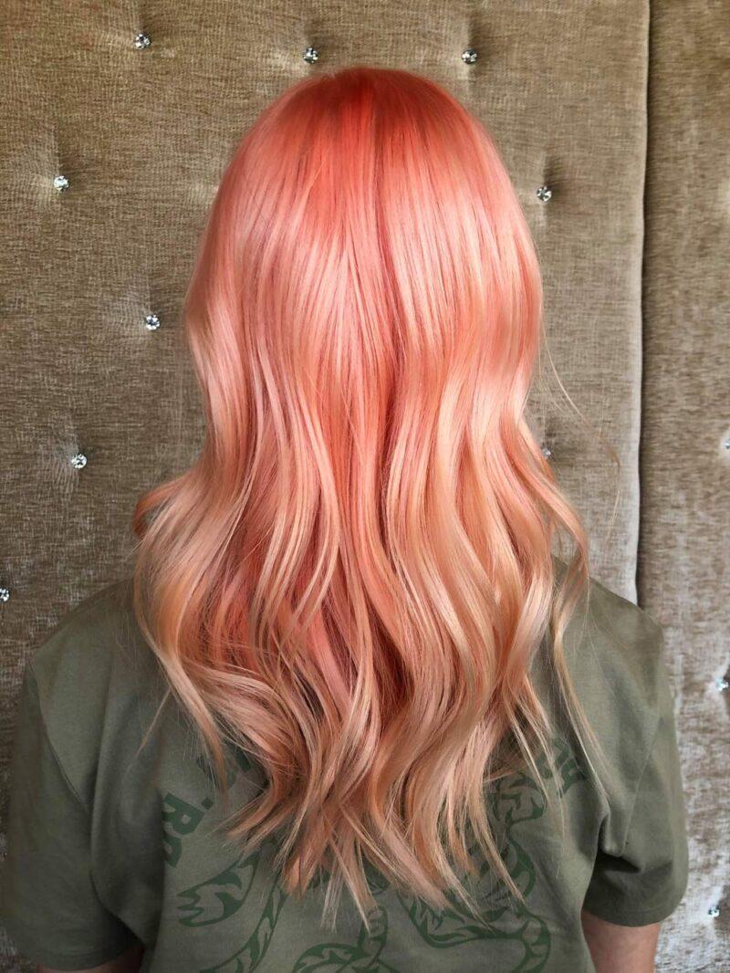 Färgning av hår - efterbild