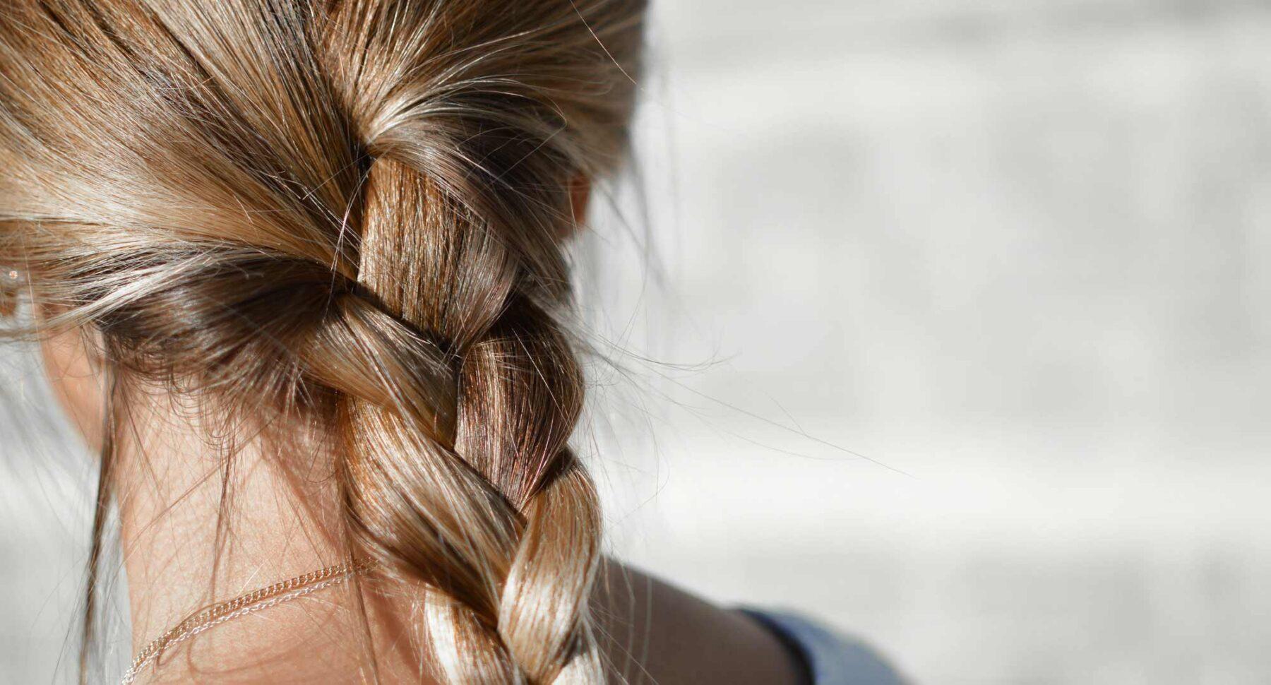 Fläta av hårförlängning